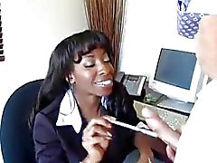 Ebony Secretary Fucks Guy