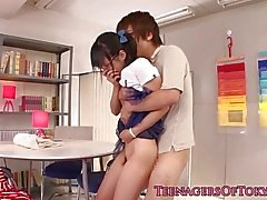 Japonés adolescente novia cocksucking bf dick