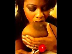 Cute Ebony Big Natural Boobs