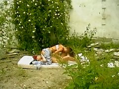 Two lesbians playing outdoor