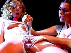 Horny lesbian pornstars taste each others pussy juice
