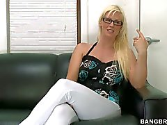 Amateur blonde with glasses Kaylee Brookshire