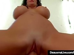 Mature Mommy Deauxma Spreads Legs For Boy Toy Anal Fucking!