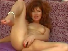 Hot Russina Redhead MILF Toying DP For Webcam