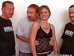 Tattooed 20Something Slut Bukkake Blast
