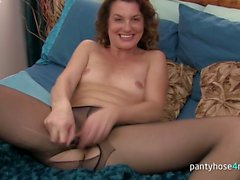 Brunette Wife Fucks With a Glass Dildo