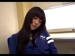 Japanese cutie footjob