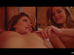 A GIRL KNOWS - Sultry Russian babe Mary Kalisy in hot lesbian sex with Sicilia