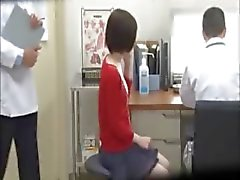 Petite hot asian undresses in doctors office