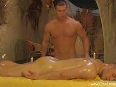 Gay Anal amantes da massagem