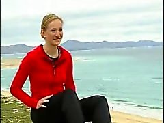 German teen Juliane strips on TV Part 2