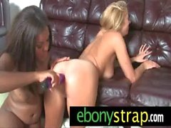 Strapon pussy interracial lesbian lovers 23