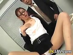 Japanese Worker Blows Her Boss