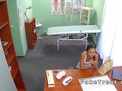 Petite Russian patient fucks doctor