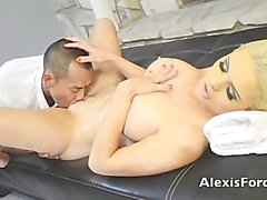 AMWF Alexis Ford interracial with Asian guy