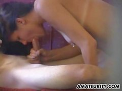 Amateur couple caught fucking by a hidden cam