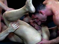 Muscle Homosexuell Flip-Flop und Cumshot