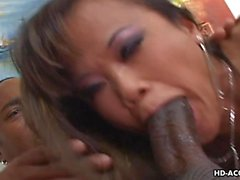 Hot fuck for the Thai slut from a big black h
