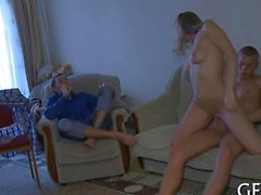 the babe gets to be fucked on the couch HD
