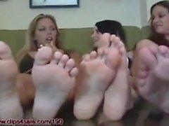 Five girls, ten feet