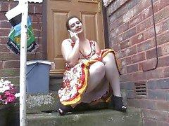 Voyeur 1 - Chubby babezitting outdoor ( MrNo )