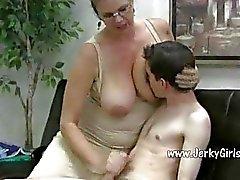 Mature Babe with Big Tits Fucks A Twenty Something Stud
