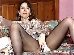 British slut Fran plays with herself in various scenes