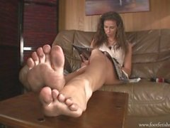 Goddess's dirty feet pov