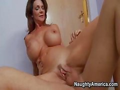 Busty milf is banged on the floor of the empty office by janitor