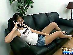 Sexy esmer bakıcı Evelyn Ling yakalanmış olur