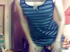 Striptease on cam