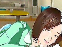 Suloinen 3D hentai tyttö ovat märän unen jälkeen