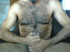 Poilu Hot Papa masturbe