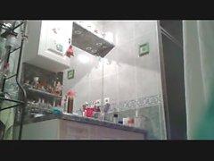 Chubby GF in the bathroom