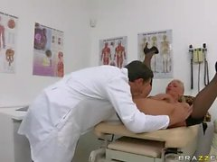 Doctor fucks Curvy Phoenix Marie in the ass for anal orgasm