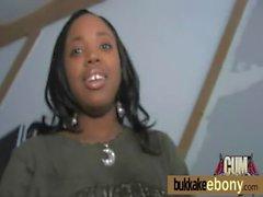 Ebony babe sucks and fucks several white dudes 26