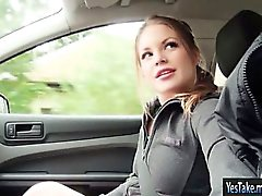 Teen Alessandra Jane banged in the car
