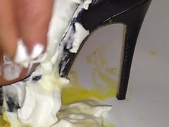 her party heels VS whipped cream