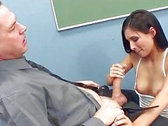 Schoolgirl receives dick