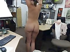 Customers wife banged by horny pawnkeeper in the back office