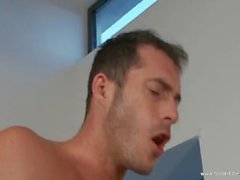 Two guys drilling amazing babe