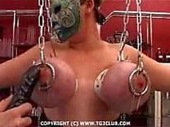 Жестких сердцевина BDSM.puncture на chest.punishment