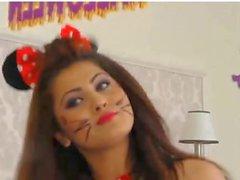 Hot halloween college girl
