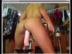 Foglove69 - Sexy latina uses a cumming dildo