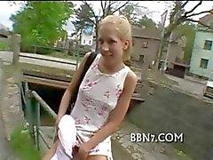 Hothead adolescente garota passeios dick