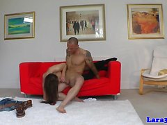 Kinky british MILF in stockings doggystyled