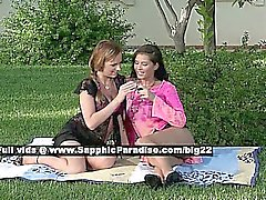 Jaquelin and Isabella lovely lesbo girls nippling