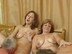 Russian family dropping all the rules and having a hot orgy