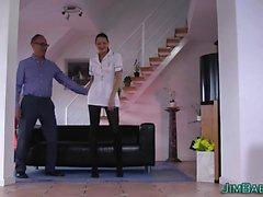Nurse jizzed by old guy