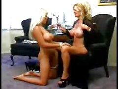Kinky fetish lesbo maid with mistress